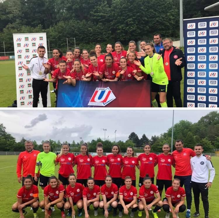 L'équipe féminine de football est Championne de France Universitaire 2019